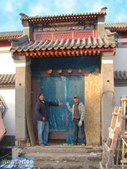 Minutes after we installed the Siheyuan copper door