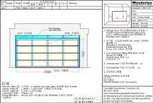 shop-drawing of sectional Aluminum-tempered glass garage door