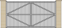 Galvanized mild steel swing gate