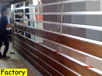 making of stainless steel-wood slide gate at factory