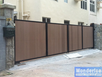 7m fold gate by remote control