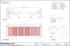 As-built shop drawing of fold gate for SHK
